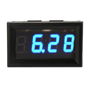 Yb27t Blue Automotive Electronic Clock Car Led Digital Luminous Date Timerma1224