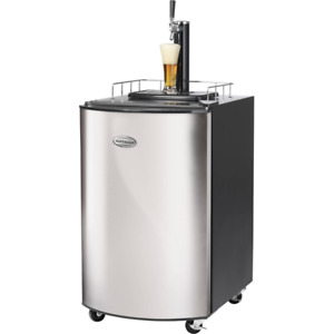 Keg Beer Dispenser Tap Draft Cooler Fridge Machine Stainless Steel Kegerator Bar