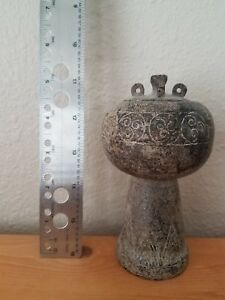 Ancient Brown Jade Incense Burner