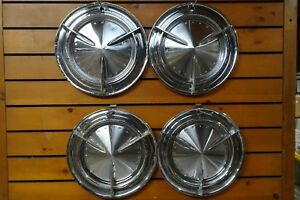 1960 Pontiac Bonneville Catalina Star Chief Spinners Spoked Wheel Covers Hubcaps