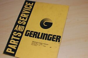 Towmotor Gerlinger Pf30 Forklift Truck Parts Manual Book Owner Operator