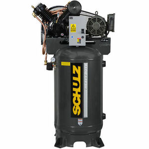Schulz Air Compressor 7 5hp Single Phase 80 Gallon Tank 30cfm 175 Psi