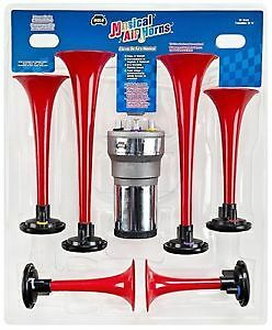 Alma Llanera The Lone Ranger Musical Air Horn Kit 6 Trumpets 12v Compressor Wolo