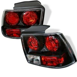 1999 2004 Ford Mustang Euro Style Tail Lights Black