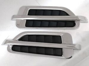 Oe Style Escalade Fender Stick On Side Air Vents Chrome Tahoe Chevy Suburban