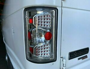 For Ford Excursion 2000 2005 econoline Van 1995 2012 Led Look Tail Lights Chrome