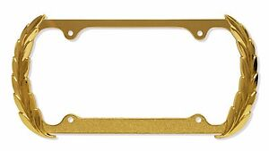 3d Wreath Gold Cadillac Style Metal License Plate Frame