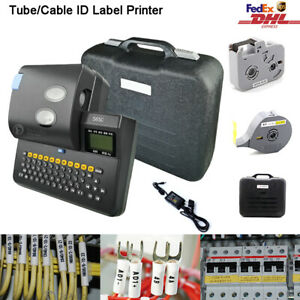 Logo Marking Printing Machine Cable Wire Code Tube Letter Label Thermal Printer