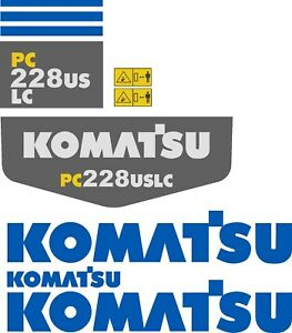 Komatsu Pc228 Decal Kit The Most Complete Aftermarket Kit Available
