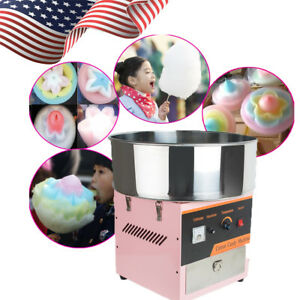 Electric Cotton Candy Machine Floss Maker Commercial Carnival Party Household Us