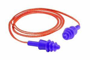 Gateway Safety 93012 Twisters Silicone Corded Reusable Triple flanged Earplug