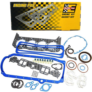 Engine Pro Full Gasket Set 1987 1995 Chevrolet 350 5 7l Tbi 1 Piece Rear Seal