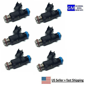Set Of 6 New Oem Gm 2007 2010 Malibu Impala Fuel Injector 12592648