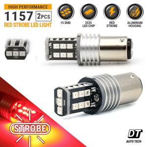 1157 Led Strobe Flashing Blinking Brake Tail Light Parking Safety Warning Bulbs