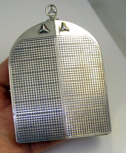 Estate Vintage Antique Cigarette Sterling Silver Mercedes Grill Hood Star Box