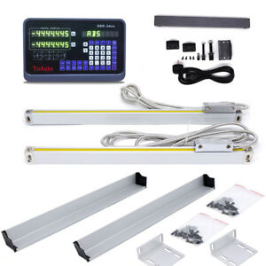 Ttl Linear Glass Scale 10 48 2axis Digital Readout Display Dro Kit Cnc Milling