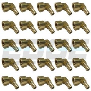 25 Pack 3 8 Hose Barb Elbow X 3 8 Female Npt Brass Pipe Fitting Gas Fuel Wog