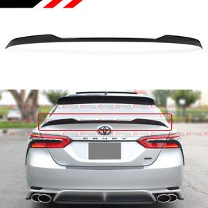 For 2018 2019 Toyota Camry Se Xse Le Xle Glossy Black V Style Trunk Lid Spoiler