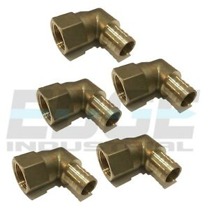 5 Pack 3 4 Hose Barb Elbow X 3 4 Female Npt Brass Pipe Fitting Thread Fuel Wog