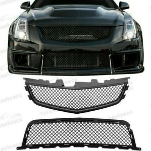 2008 2014 Cadillac Cts V Ctsv Front Upper Lower Main Grille Combo Matte Black