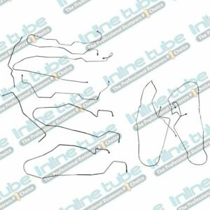 2002 2009 02 07 Hummer H2 Complete Brake Line Set Kit 9pc Abs 4wd Suv Stainless