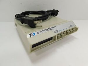 Hp Hewlett packard Model 3476b Digital Multimeter In Working Condition Sn 11014