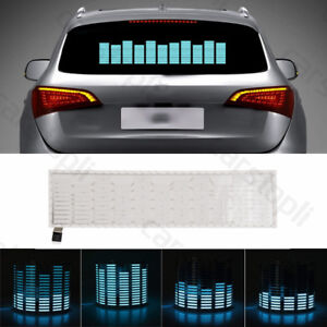 Car Sticker Music Rhythm Led Flash Light Sound Activated Equalizer Blue Lamp Kit