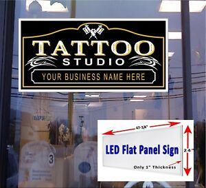 Tattoo Studio 48x24 Led Window Sign We Will Add You Business Name Free