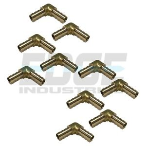 10 Pack 5 16 Hose Barb Elbow 90 Degree Brass Pipe Fitting Thread Fuel Wog