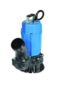 Tsurumi Hs3 75s Semi vortex Submersible Trash Pump W agitator 1hp 115v 3