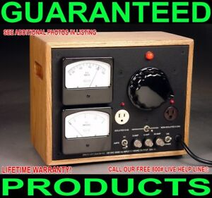 Custom Dual Metered Isolated Variac Tube Transistor Audio Power Amplifier 2800w