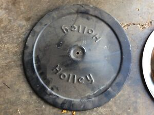 Vintage 14 Air Cleaner Recessed Drop Base With Holley Top