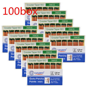 100boxes Dental Gutta Percha Point 0 06 35 Zinc Oxide Barium Sulfate