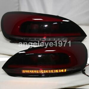 2009 To 2013 Year For Vw Scirocco Led Strip Taillights Rear Lights Dark Red Jx