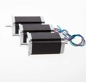 3pcs Nema23 Stepper Motor 425oz in 23hs9430b Dual Shaft Cnc Cutters