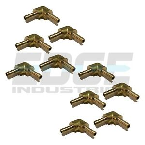 10 Pack 1 8 Hose Barb Elbow 90 Degree Brass Union Pipe Fitting Thread Wog