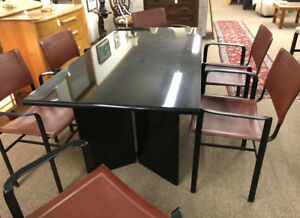 Vintage Mid Century Modern Dining Table And 6 Chairs Made By Cidue Italy C1970