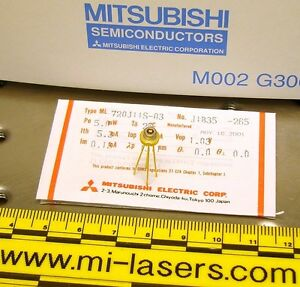 Lot Of 5 New Mitsubishi Ml720j11s Dfb Laser Diode 1310nm Infrared 1 3um 5mw