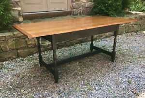 Vintage Solid Maple And Tiger Maple Harvest Kitchen Table Hand Classics In Wood