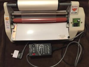 13 5 Hot cold Double Sided Laminator With 220v 110v Converter And Laminate