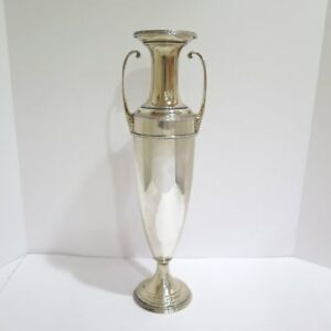 18 5 In Sterling Silver Gorham Antique Roman Style Tall Vase