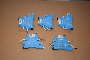Lot Of 5 Finder 34 51 7 060 0000 Relay With 93 01 0 125 Base