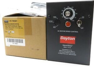 New Dayton 13e661 Ac Motor Speed Control