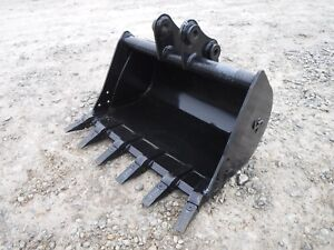 Bobcat E26 Mini Excavator Attachment 36 Heavy Duty Tooth Bucket Ship 149