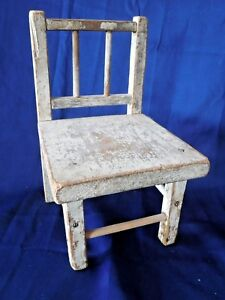 Vintage Farmhouse Wood Doll Teddy Chair Display Prop Primitive Country Decor