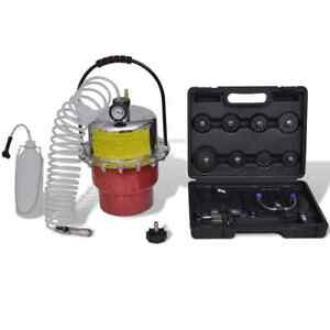 Pneumatic Air Pressure Bleeder Tool Set Kit Professional Garage Brake Bleed Kit