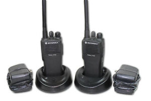 Pair Of Motorola Cp200 Vhf Radios 4 Channels 146 174 Mhz