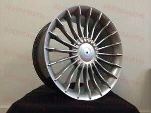 20 Staggered B7 Alpina Style Silver Rims Fits Bmw 7 Series 740 745 750 645 650