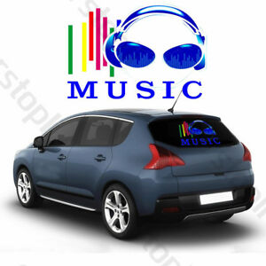 Car Rhythm Led Flash Light Sound Activated Equalizer Sticker Music Colorful Kit