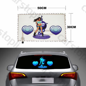 Car Rhythm Led Flash Light Sound Activated Equalizer Sticker Music Dance Lamp